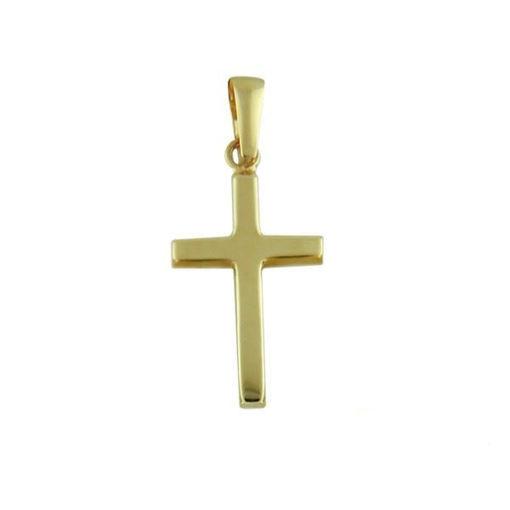 Kors i gult gull 14kt/585 -790140