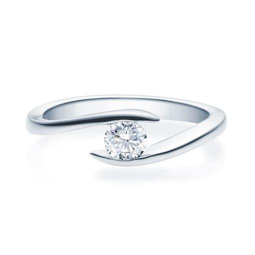 Enstens diamantring med 0,30 ct i 14kt gull. TW-Si. -18015030