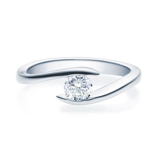 Enstens diamantring med 0,40 ct i 14kt gull. TW-Si. -18015040