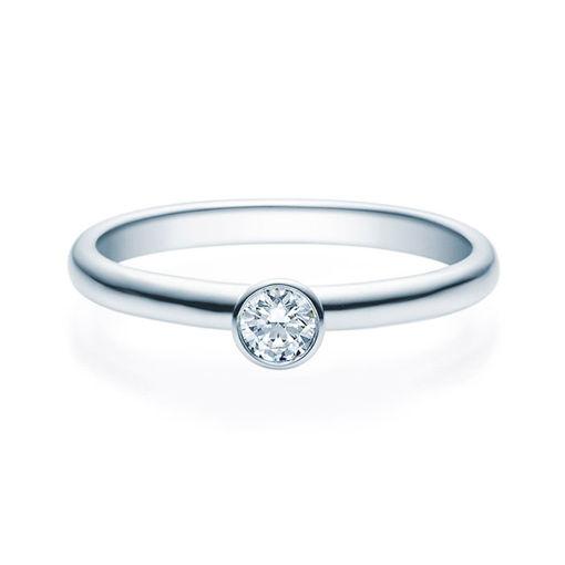 Enstens diamantring med 0,16 ct i 14kt gull. TW-Si. -18019016