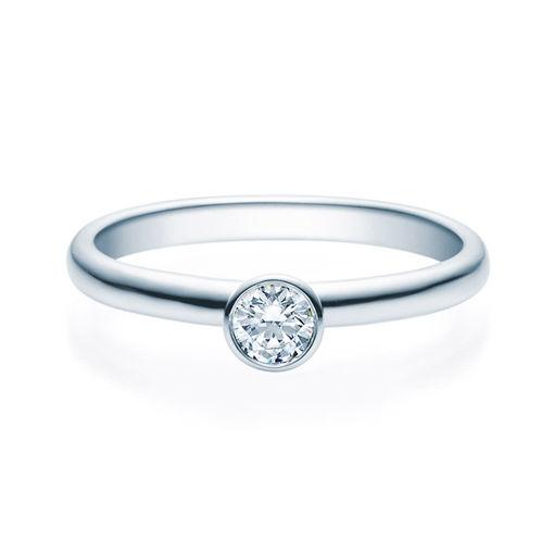 Enstens diamantring med 0,20 ct TW-Si i platina -18019020pt