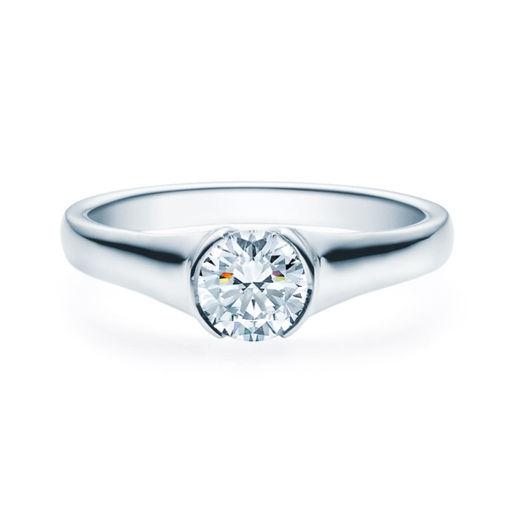 Enstens diamantring med 0,70 ct i 14kt gull. TW-Si. -180022070