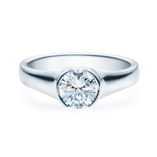Enstens diamantring med 1,00 ct i 14kt gull. TW-Si. -180022100