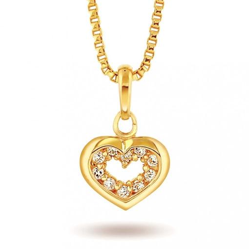 Smykke Halskjede i gull - Hjerte, til barn -52067