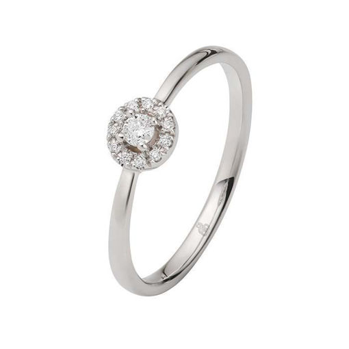Flerstens diamantring Ja! med 0,12 ct TW-Si i 9kt gull -5100022