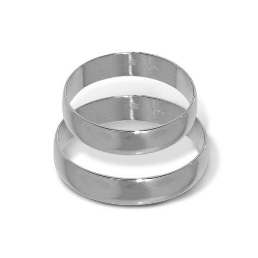 Gifteringer fra OREST i platina 950, 4.5 mm - 23045450