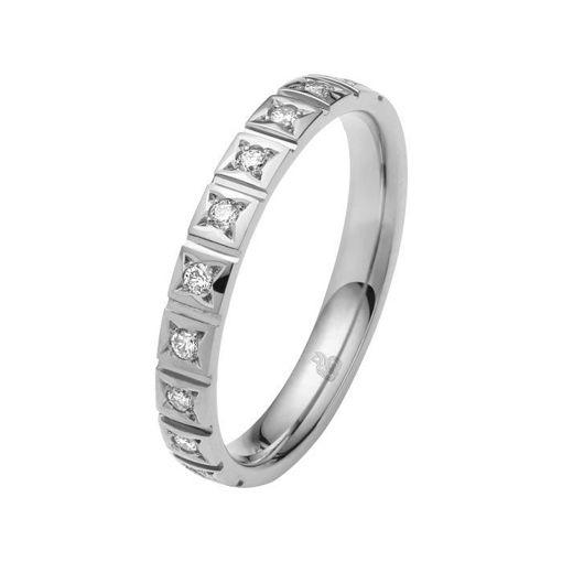 Flerstens diamantring med 0,15 ct W-Si i 9kt gull - 1103509999