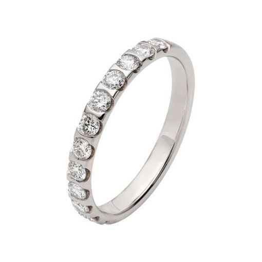 Flerstens diamantring med 0,60 ct W-Si i 9kt gull - 413621299