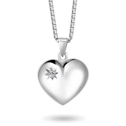 Smykke i sølv. Hjerte - 64072