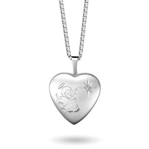 Smykke i sølv. Engel medaljong - 67060