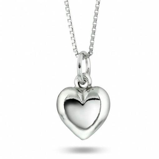 Smykke i sølv. Hjerte mellomstørrelse - 64009