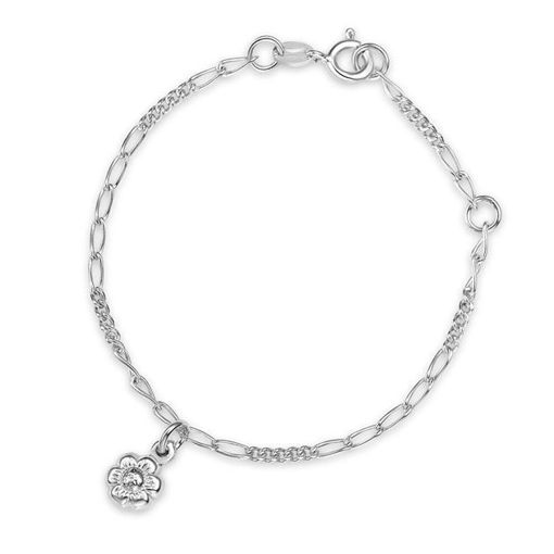 Armbånd i sølv. Blomst - 62103