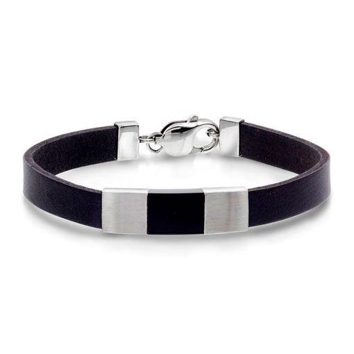 Armbånd i sølv med sort onyx. Alexander - 972246