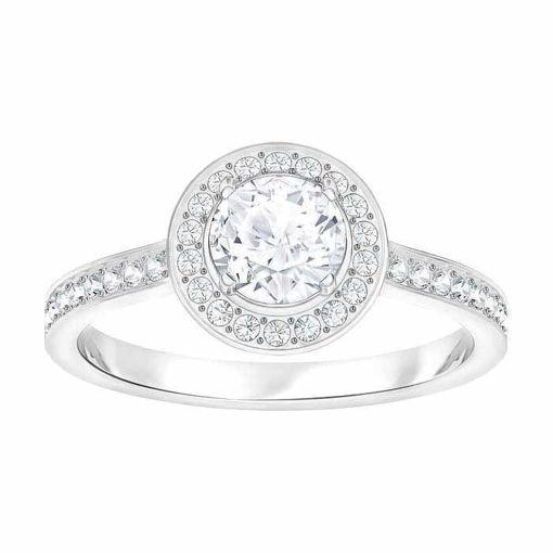 Swarovski ring Angelic Round, hvitt - 5409187