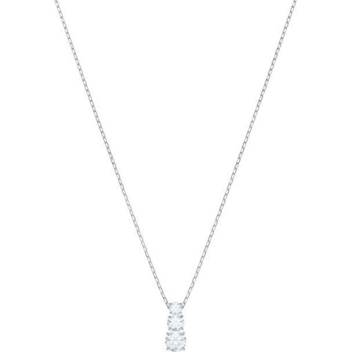 Swarovski smykke Attract Trilogy Round Pendant, White, Rhodium plated - 5414970