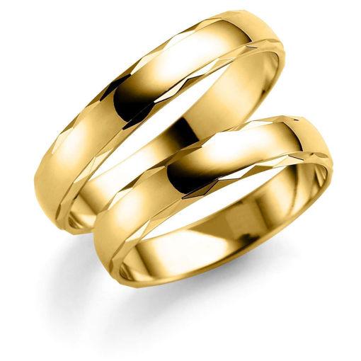 Gifteringer i gull 14 kt, 3 mm. ESPELAND -SE127GU30