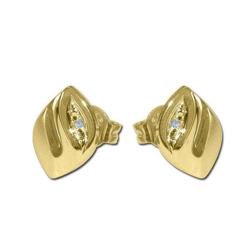 Diamant øredobber i gull med 0,010 ct W-Si -BUR75040012