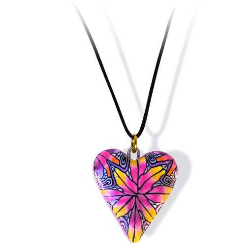 Håndlaget smykke, hjerte -2802058