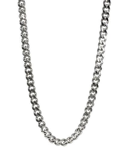 Herrekjede DYLAN i blankt stål, 56cm/6cm - 360262