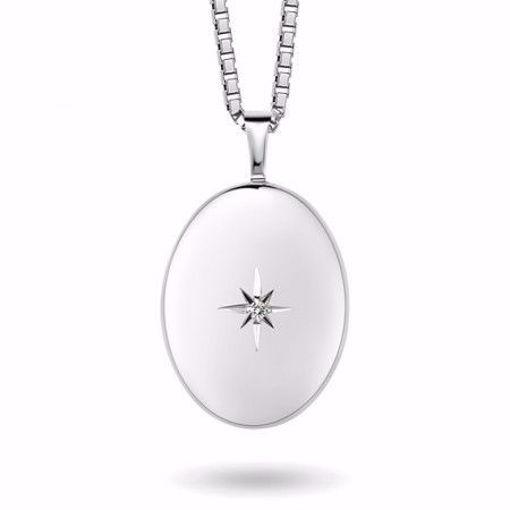 Smykke i sølv. Medaljong - 67062