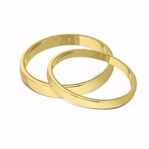 Gifteringer fra OREST i gull 14kt, 2.5/3.5 mm -11525003500