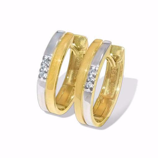 Diamant øredobber i gult & hvitt gull - 55293997