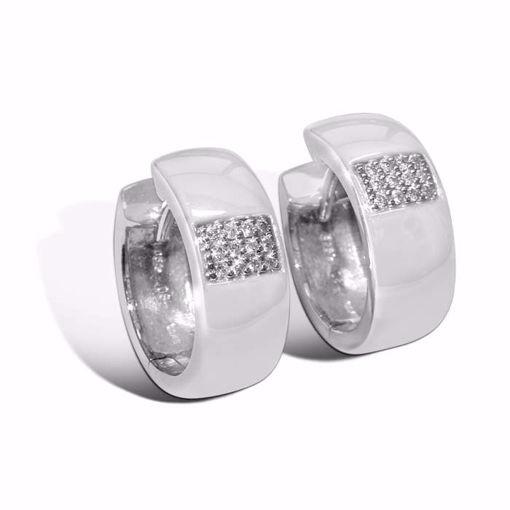 Diamant øredobber i hvitt gull - 7369373