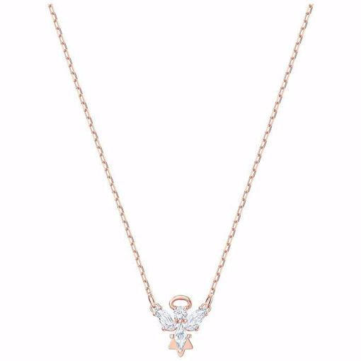 Swarovski smykke Magic Angel Necklace, White, Rose-gold tone plated - 5498966