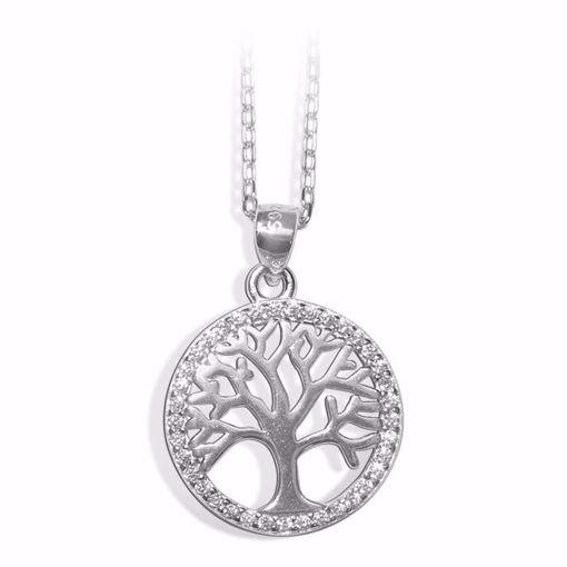 Smykke i sølv med zirkonia - 991595