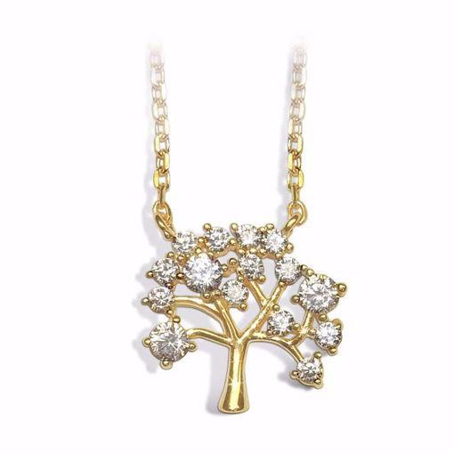Smykke i forgylt sølv med zirkonia - 993595