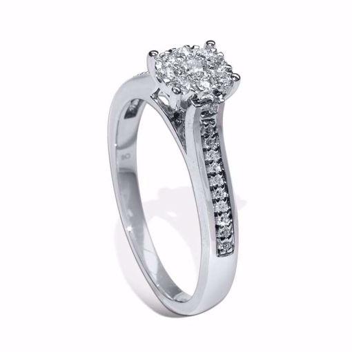 Diamantring i hvitt gull med 0,25 ct W-Si - COC5660258