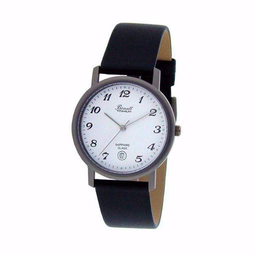 Herreklokke med sort rem - 404HT
