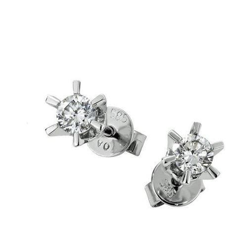 Sofia diamant øredobber med  2/0,18 ct W-Si -2120718