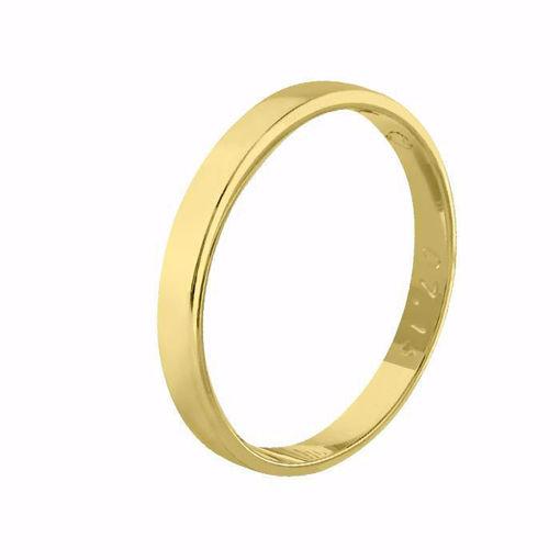 Giftering til herre i gult gull 14kt, 3 mm. OREST modell 115 - 115030