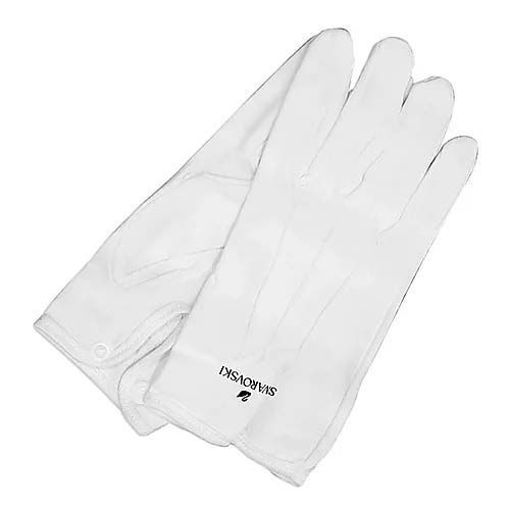 Swarovski white cotton gloves - 189800