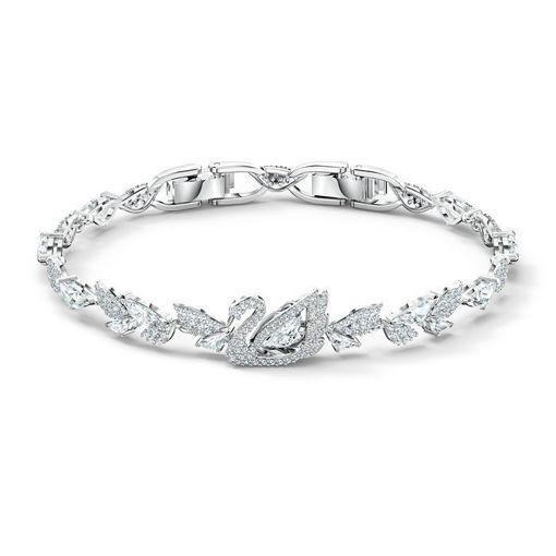 Swarovski armband Dancing Swan, hvitt - 5536767