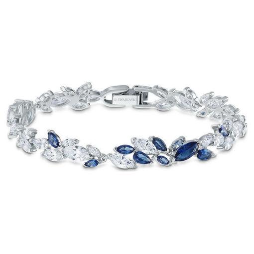 Swarovski armband Louison, blå & hvite krystaller - 5536548
