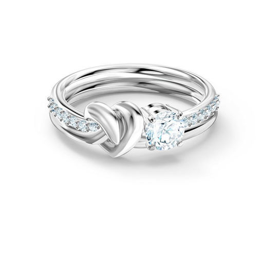 Swarovski ring Lifelong Heart, hvitt - 5535399