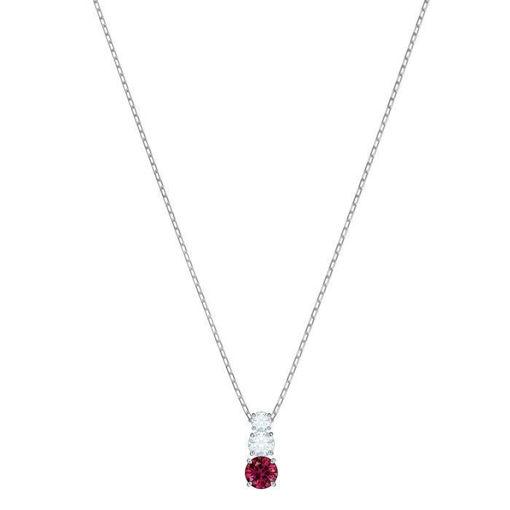 Swarovski smykke. Attract Trilogy Round, rød - 5447060