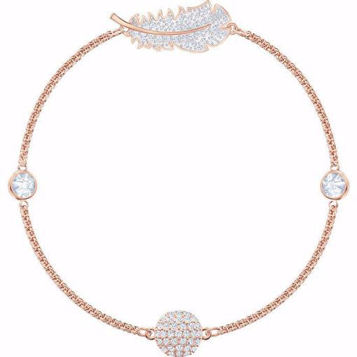 Swarovski armband Feather Strand, rose - 5511103