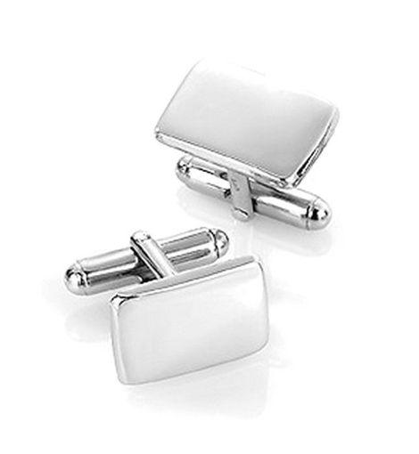 Mansjettknapper i sølv med metall bakstykke. Rhodinert - 63801