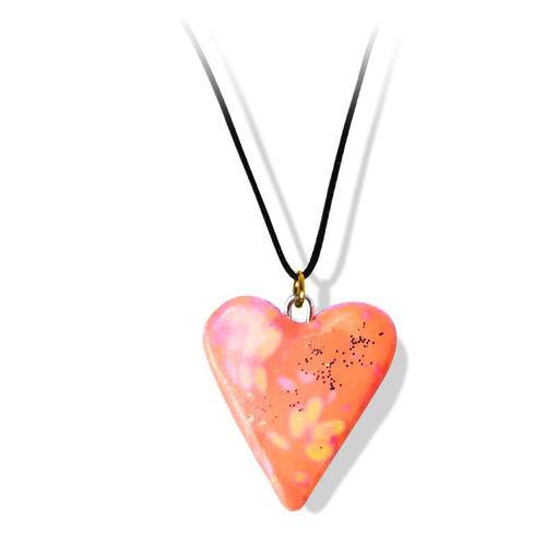 Håndlaget smykke, hjerte -2802043