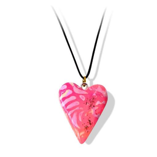 Håndlaget smykke, hjerte -2802035