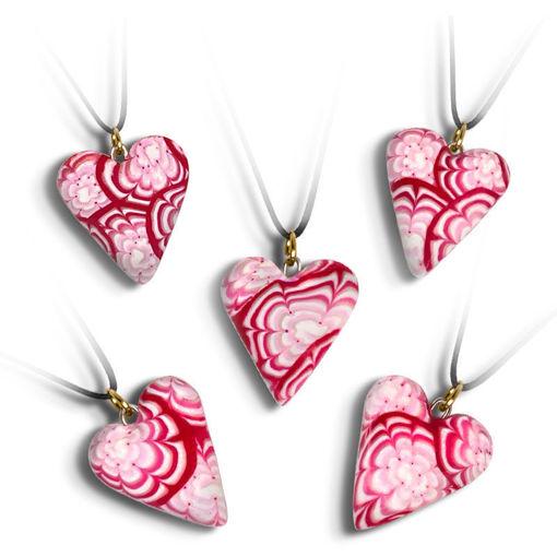 Håndlaget smykke, hjerte -2802069