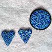 Smykke Krysantemum, blått, håndlaget -28020698