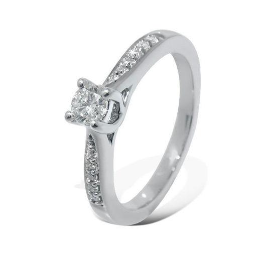 Diamantring forlovelsesring Azur 0,38 ct W-Si,GIA - ABR00874-4