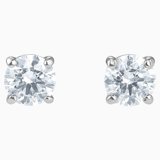 Swarovski øredobber Attract Stud Pierced Earrings, White, Rhodium plated - 5509937