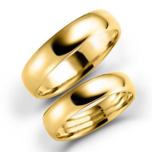 Gifteringer i gull 14 kt, 5 mm. ESPELAND-SE103GU50