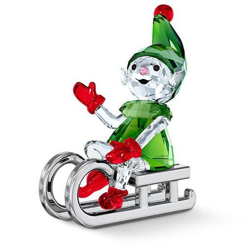Swarovski figurer Santa's Elf on Sleigh - 5533947