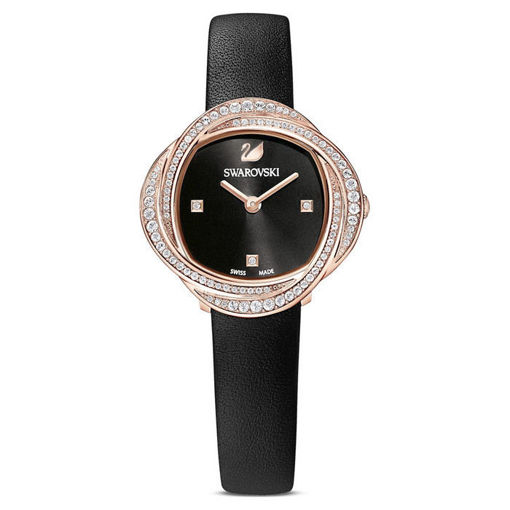Swarovski klokke Crystal Flower, svart - 5552421